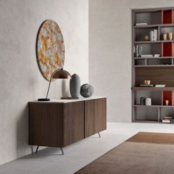 System 02 modular sideboard with marble top