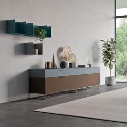 Punto 02 modular two-colour sideboard
