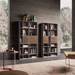 Wall modular lacquered bookcase