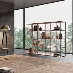 Grafic 02 modular metal bookcase