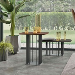 Sambuco coffee table with lacquered or veneered top