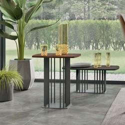 Sambuco tavolino con top laccato o impiallacciato