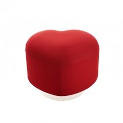 Lempi heart ottoman in fabric