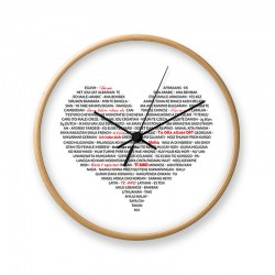 Wall clock in wood