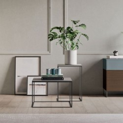 Ginestra coffee table with lacquered, veneered or concrete top