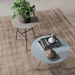 Glicine tavolino tondo con top laccato, impiallacciato o marmo