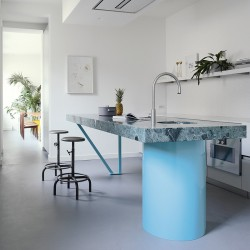 Modern kitchen with marble island - T45