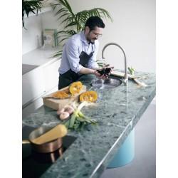 Cucina moderna con isola in marmo - T45