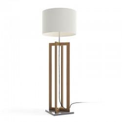 Outdoor floor lamp in wood...