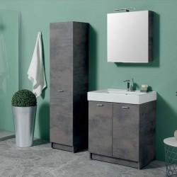 Composizione bagno con lavabo, specchio e colonna - Trix 8