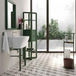 Composizione bagno con mobile e colonna in frassino - Tina 1