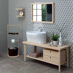 Composizione bagno / lavanderia con lavabo in appoggio - Tino 3