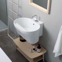 Composizione bagno / lavanderia con panca in legno - Tino 4