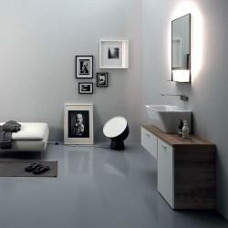 Composizione bagno con mobile lavabo anta e cassetto - Wynn 3
