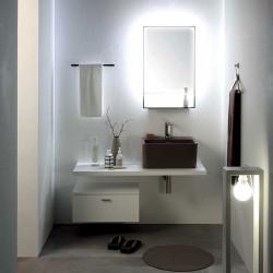 Composizione bagno con cassetto sospeso, piano e lavello - Wynn