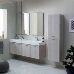 Composizione bagno con doppio lavabo sospeso - Cento 8