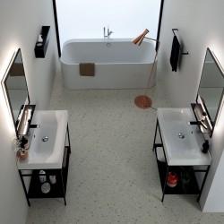 Composizione bagno con doppio lavabo - Cento 5