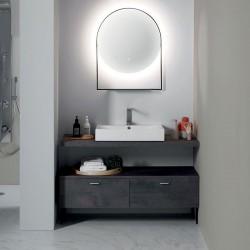 Composizione bagno con mobile cassetti e specchio - Cento 3