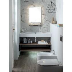 Composizione bagno con lavabo e ripiani sospesi - Square 1