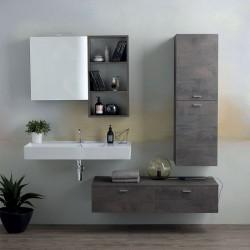 Composizione bagno con lavabo e mobili sospesi - Square 2
