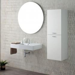 Composizione bagno con lavabo sospeso e colonna - Square 3