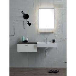 Composizione bagno lavabo sospeso e specchio - Square 4