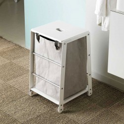 Bathroom stool with laundry...