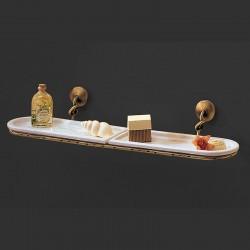 Shelf in ceramic and brass...