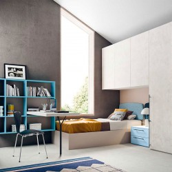 Kids Bedroom set with wall-mounted bookcase - Start P17
