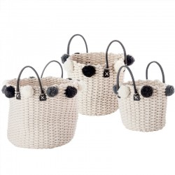 Weaved Basket With Handles - Ponpon