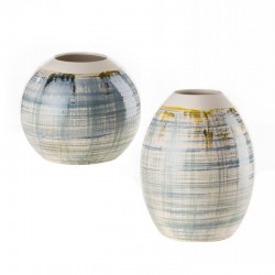 Ceramic low or high vase -...