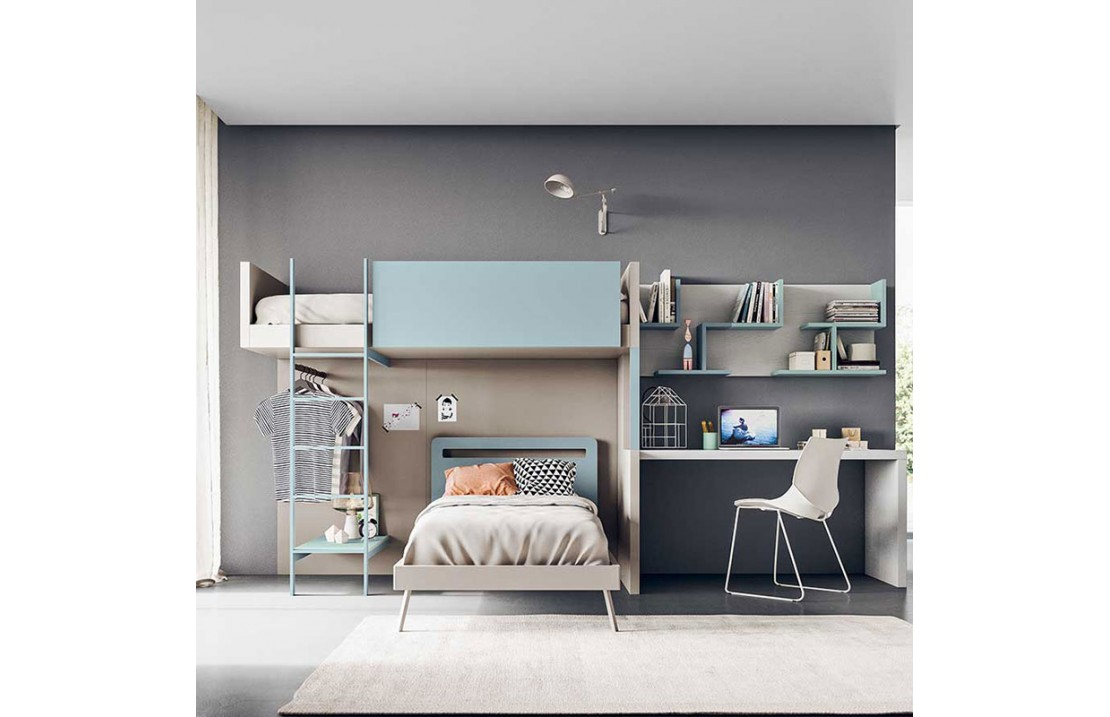 Picture of: Kids Bedroom With Loft Bed Start S32 Isa Project