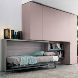 Composition with wardrobe and folding single bed - Save 07