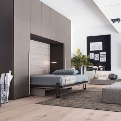 Composition with wardrobe, folding bed and sofa - Save 09