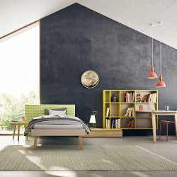 Kids Bedroom with bed, desk and wardrobe - Start T15