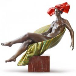 Statua in bronzo - Relax