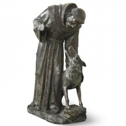 SAINT FRANCIS WITH A WOLF,...