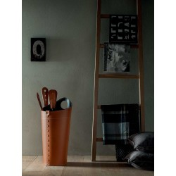 Fireplace tools in leather - Nilar