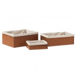 Container in leather - Sonia Storage Baskets