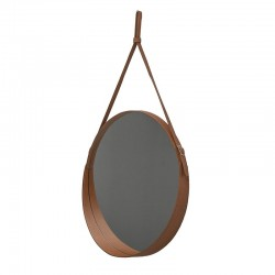 Round Mirror in leather - Corium Mirrors