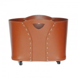Firewood holder in leather - Volta Fireplace Accessories