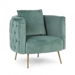 Quilted armchair in velvet - Tenbury