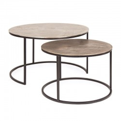Set of 2 coffee tables in steel and aluminium - Amira Coffee tables