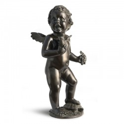 SMALL PUTTO WITH FLOWER,...