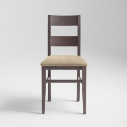 Wooden chair with padded...