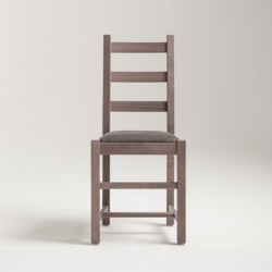 Wood chair with padded seat - Rustica