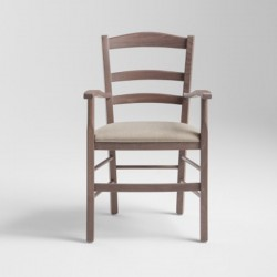 Rustic chair with armrests - Venezia