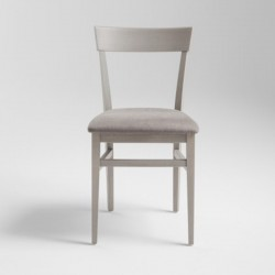 Wood chair padded seat -...