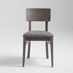 Sedia in legno imbottita - Retrò