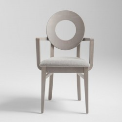 Armchari with padded seat -...